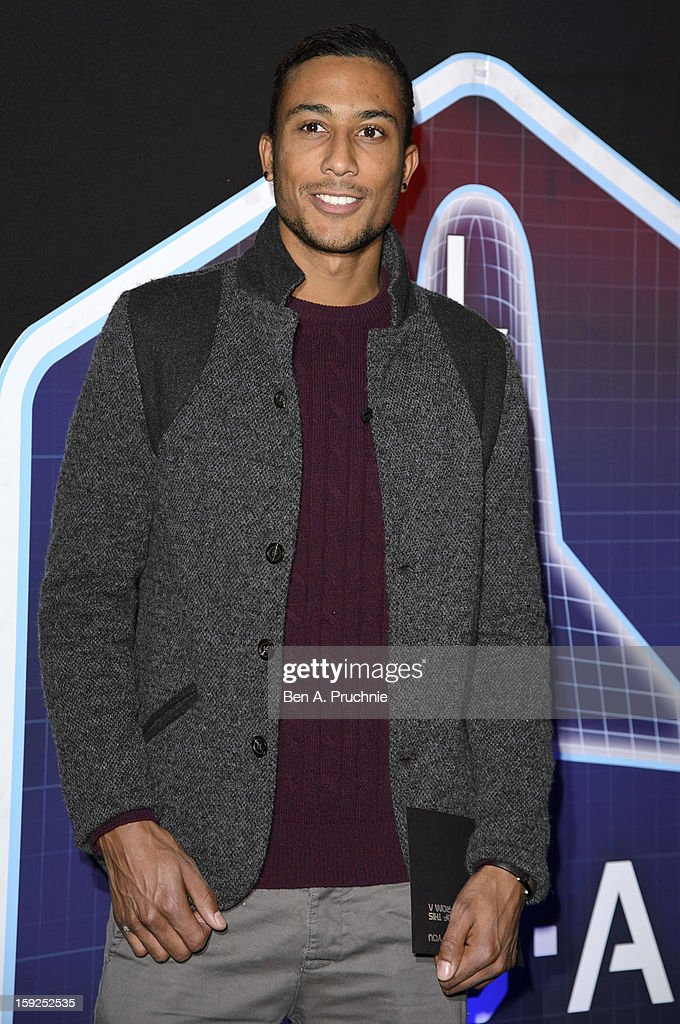 Andrew Osagie attends the Lynx L.S.A launch event at Wimbledon Studios on January 10, 2013 in London, England.