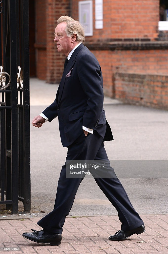 Andrew Parker Bowles attends a Requiem Mass for Hugh van Cutsem who passed away on September 2nd 2013 at Brentwood Cathedral on September 11, 2013 in Brentwood, England.
