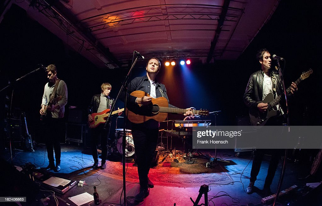 Andrew Parmley, Chris Parmley, Matty Chipchase and Paddy Jordan of Young Rebel Set perform live during a concert at the Glashaus on September 29, 2013 in Berlin, Germany.