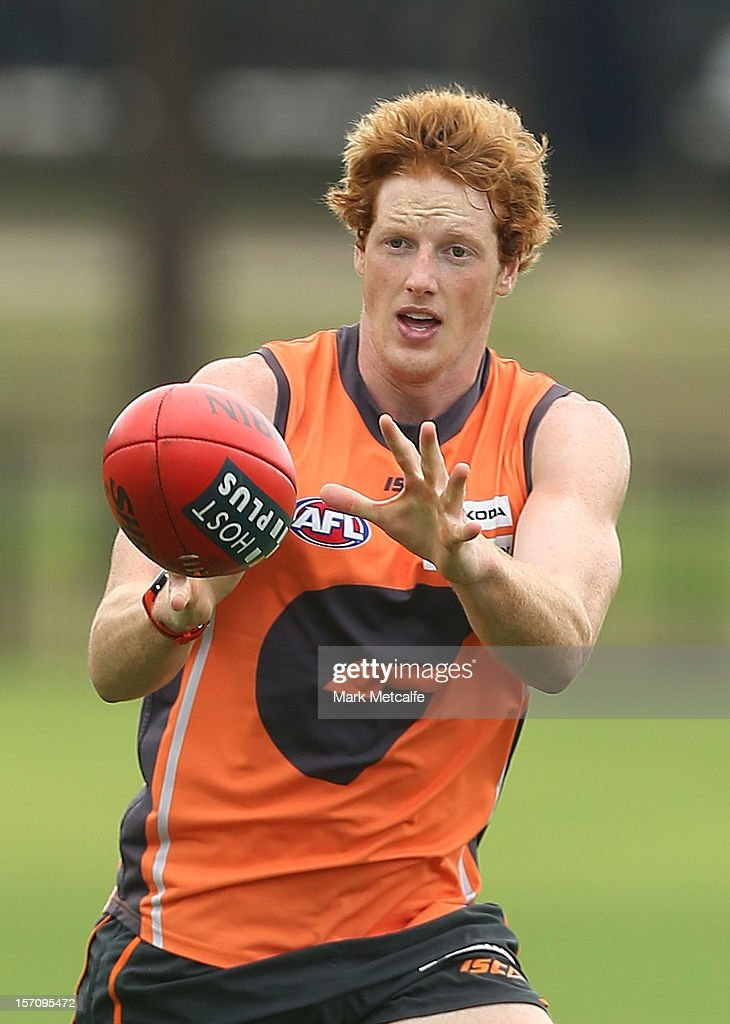 Andrew Phillips in action during a Greater Western Sydney Giants AFL pre-season training session at Lakeside Oval on November 28, 2012 in Sydney, Australia.
