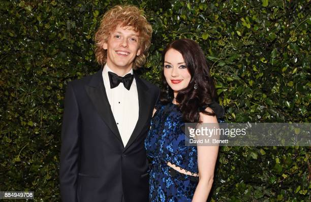 Andrew Polec and Christina Bennington attend the London Evening Standard Theatre Awards 2017 at the Theatre Royal Drury Lane on December 3 2017 in...