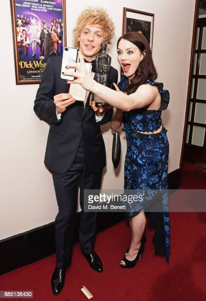 Andrew Polec and Christina Bennington attend the London Evening Standard Theatre Awards 2017 after party at the Theatre Royal Drury Lane on December...