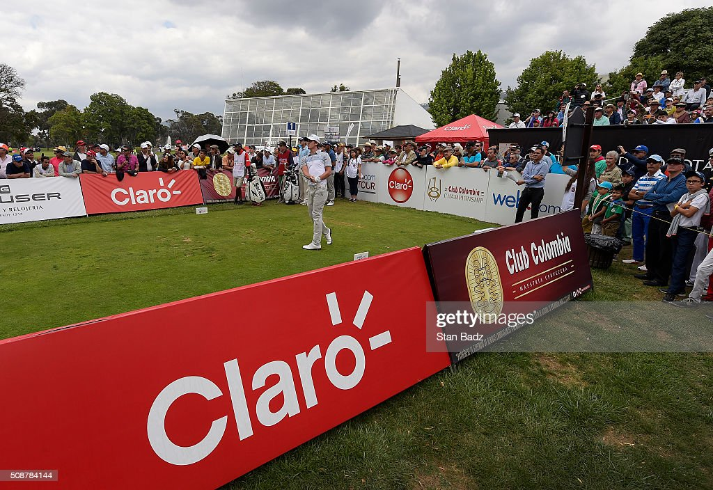 Andrew Putnam hits a drive on the first hole during the third round of the Web.com Tour Club Colombia Championship Presented by Claro at Bogotá Country Club on February 6, 2016 in Bogotá, Colombia.