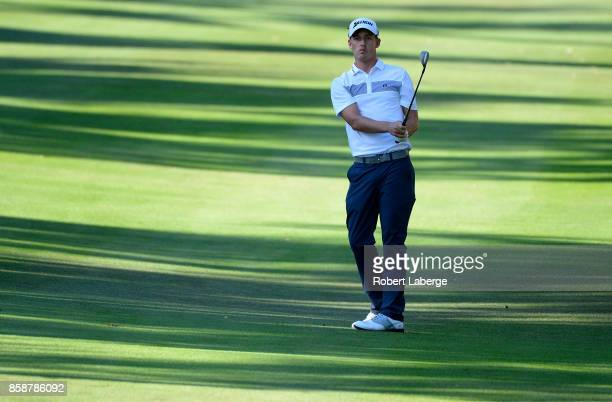 Andrew Putnam plays his shot on the 16th hole during the third round of the Safeway Open at the North Course of the Silverado Resort and Spa on...
