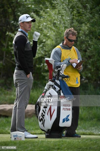 Andrew Putnam watches play on the second hole during the third round of the Webcom Tour United Leasing Finance Championship at Victoria National Golf...