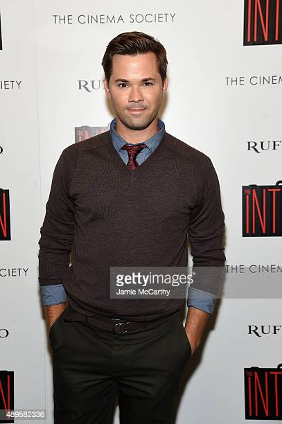 Andrew Rannells attends a screening of Warner Bros Pictures 'The Intern' hosted by The Cinema Society And Ruffino on September 22 2015 in New York...