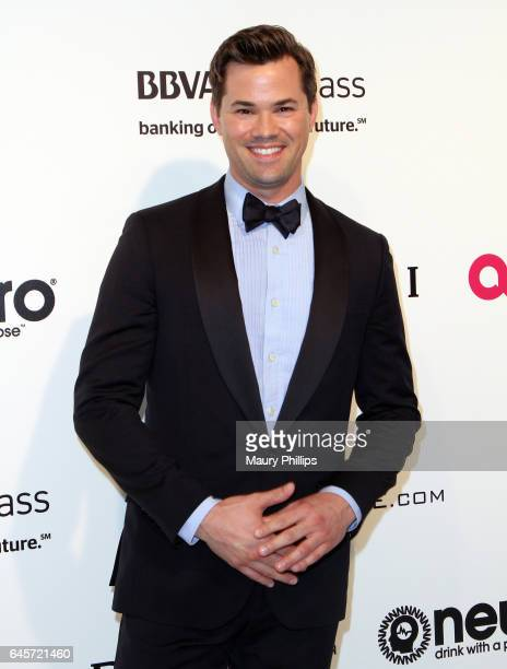 Andrew Rannells attends the 25th annual Elton John AIDS Foundation's Oscar Viewing Party at The City of West Hollywood Park on February 26 2017 in...