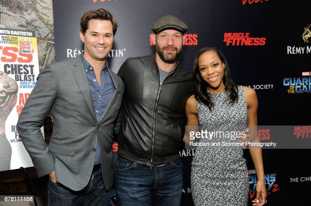 Andrew Rannells Corey Stoll and Nikki M James attend a screening of Marvel Studios' 'Guardians Of The Galaxy Vol 2' hosted by the Cinema Society at...