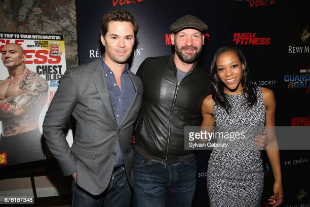 Andrew Rannells Corey Stoll and Nikki M James attend The Cinema Society with Men's Fitness Muscle Fitness and Remy Martin host a screening of Marvel...