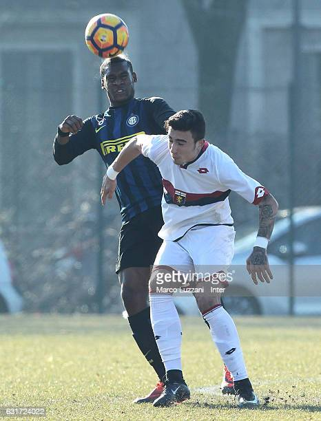 Andrew Rayan Gravillon of FC Internazionale Milano competes for the ball during the Primavera Tim juvenile match between FC Internazionale and Genoa...