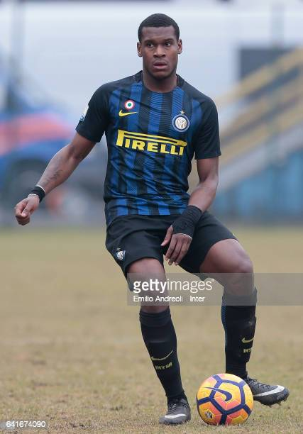 Andrew Rayan Gravillon of FC Internazionale Milano in action during the Primavera Tim juvenile match between FC Internazionale and AS Roma at Stadio...