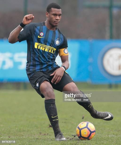 Andrew Rayan Gravillon of FC Internazionale Milano in action during the Primavera Tim juvenile match between FC Internazionale and Ternana Calcio at...