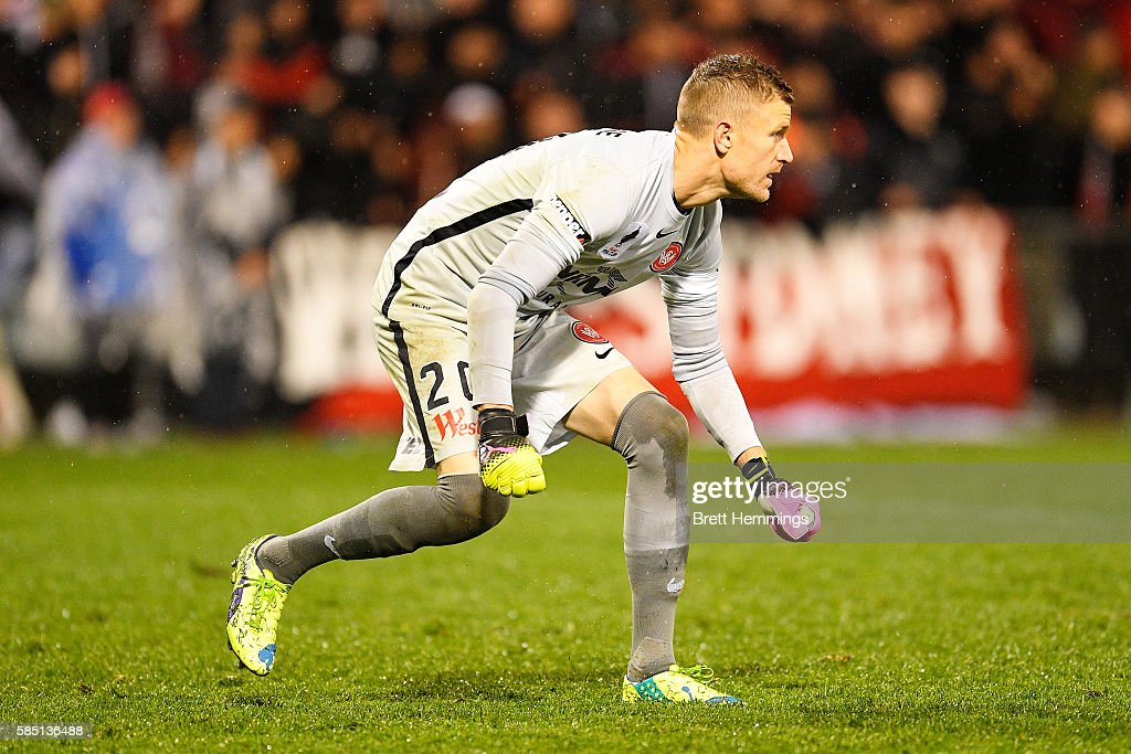 Andrew Redmayne of the Wanderers looks on during the FFA Cup Round of 32 match between the Western Sydney Wanderers and the Wellington Phoenix at...
