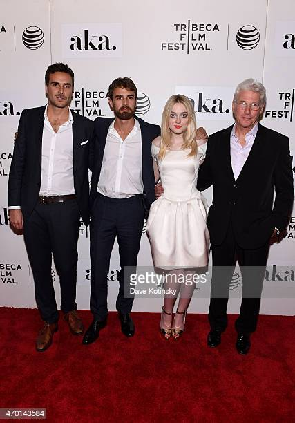 Andrew Renzi Theo James Dakota Fanning and Richard Gere attend the premiere of 'Franny' during the 2015 Tribeca Film Festival at BMCC Tribeca PAC on...