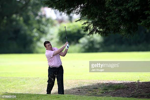 Andrew Rigby of Leeds GC in action during the Galvin Green PGA Assistants' Championship North Qualifier at Penwortham Golf Club on June 29 2015 in...