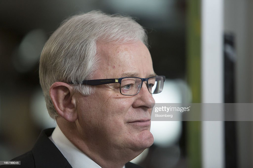 Andrew Robb, Australia's trade and investment minister, pauses during a Bloomberg Television interview in Hong Kong, China, on Friday, Oct. 25, 2013. Robb said free trade agreements with China, Japan and South Korea could be possible within 12 months. Photographer: Brent Lewin/Bloomberg via Getty Images
