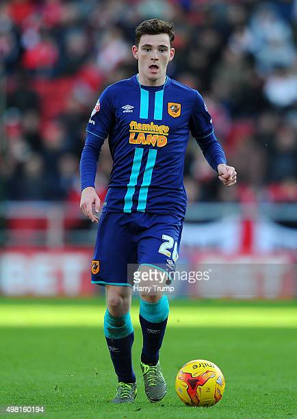 Andrew Robertson of Hull City during the Sky Bet Championship match between Bristol City and Hull City at Ashton Gate on November 21 2015 in Bristol...