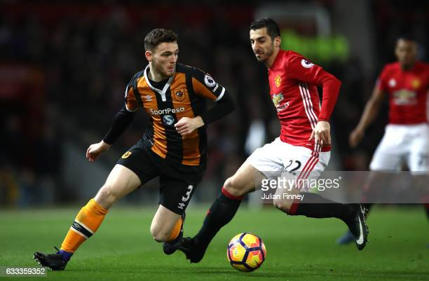 Andrew Robertson of Hull City in action during the Premier League match between Manchester United and Hull City at Old Trafford on February 1 2017 in...