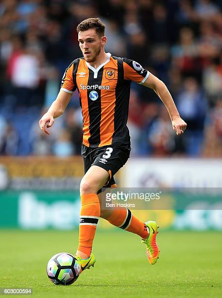 Andrew Robertson of Hull in action during the Premier League match between Burnley and Hull City at Turf Moor on September 10 2016 in Burnley England