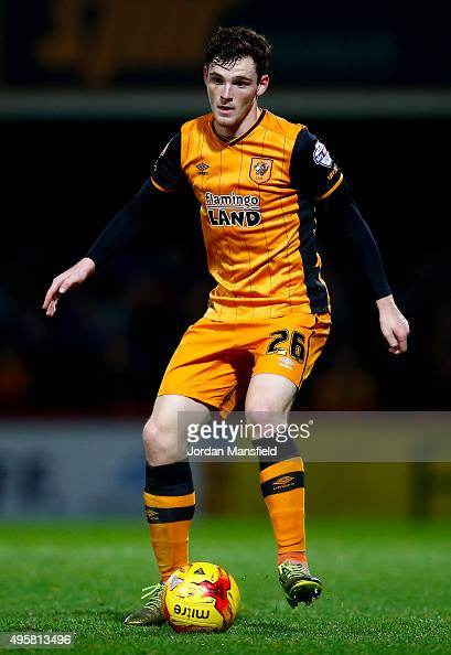Andrew Robertson of Hull in action during the Sky Bet Championship match between Brentford and Hull City on November 3 2015 in Brentford United...