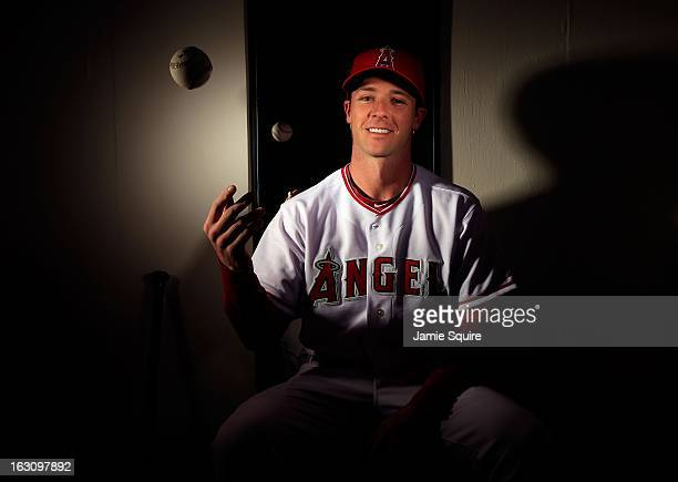 Andrew Romine poses during the Los Angeles Angels of Anaheim Photo Day on February 21 2013 in Tempe Arizona
