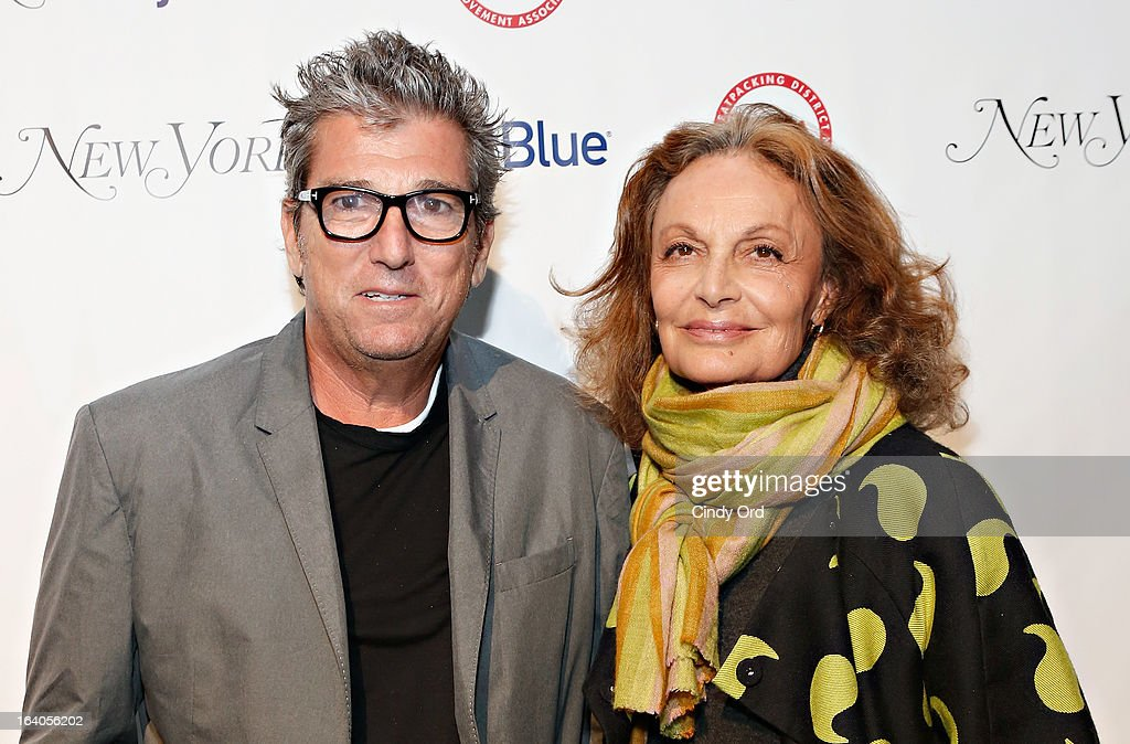 Andrew Rosen and Diane von Furstenberg attend the Meatpacking District Improvement Association first annual fundraiser OPEN MARKET at Highline Stages on March 18, 2013 in New York City.