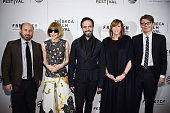 Andrew Rossi Anna Wintour José Neves Jane Rosenthal and Andrew Bolton attend the 'First Monday In May' world premiere during the 2016 Tribeca Film...