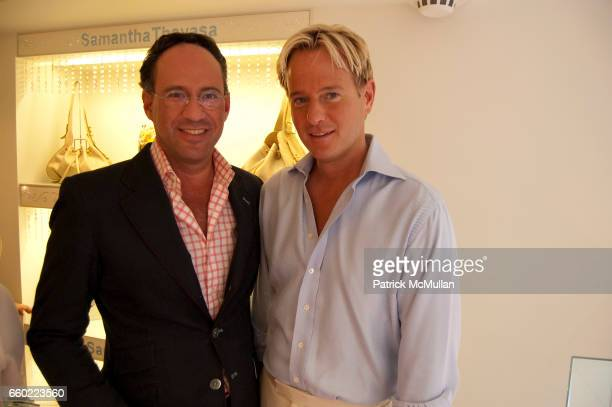 Andrew Saffir and Daniel Benedict attend Q Magazine and Tinsley Mortimer Host Pre4th of July Cocktails along with Samantha Thavasa at Samantha...