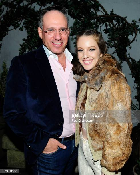 Andrew Saffir and Eleanor Lambert attend The Cinema Society BNY Mellon host the after party for Sony Pictures Classics' 'Paris Can Wait' at Laduree...