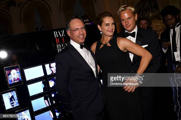 Andrew Saffir Brooke Shields and Daniel Benedict attend Samsung GALAXY At Harper's BAZAAR Celebrates Icons By Carine Roitfeld at The Plaza Hotel on...