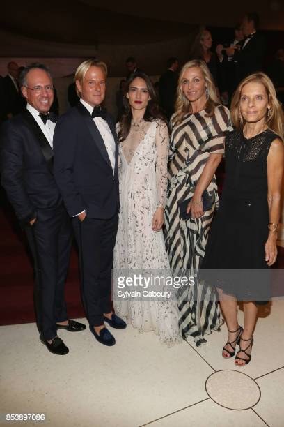 Andrew Saffir Daniel Benedict Zani Gugelmann Jamie Tisch and Sandra Brant attend Metropolitan Opera Opening Night Gala at Lincoln Center on September...