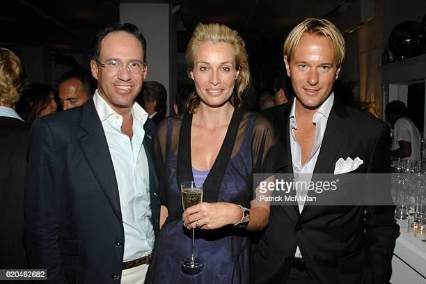 Andrew Saffir Frederique Van Der Wal and Daniel Benedict attend LA MER and OCEANA Party for WORLD OCEAN DAY 2008 at 620 Loft Garden on June 4 2008 in...