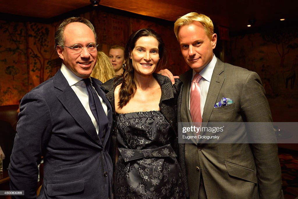 Andrew Saffir, Jennifer Creel and Daniel Benedict attend the Gucci beauty launch event hosted by Frida Giannini on June 4, 2014 in New York City.