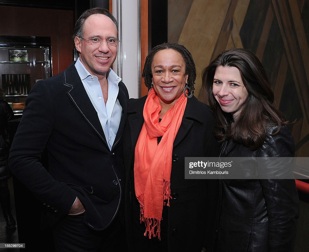 Andrew Saffir, S. Epatha Merkerson and Heather Matarazzo attend the Cinema Society And Sandro Present A Special Screening Of 'Starlet' After Party at The Lambs Club on November 2, 2012 in New York City.