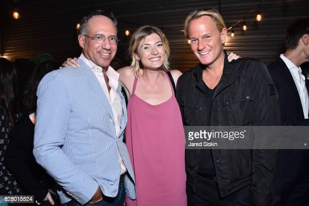 Andrew Saffir Sophie Sumner and Daniel Benedict attend Neon hosts the after party for the New York Premiere of 'Ingrid Goes West' at Alamo Drafthouse...