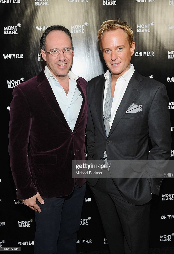 Andrew Safir (L) and <a gi-track='captionPersonalityLinkClicked' href=/galleries/search?phrase=Daniel+Benedict&family=editorial&specificpeople=561391 ng-click='$event.stopPropagation()'>Daniel Benedict</a> attend the Vanity Fair Montblanc party celebrating The Collection Princesse Grace de Monaco held at Hotel Bel-Air Los Angeles on February 21, 2012 in Los Angeles, California.