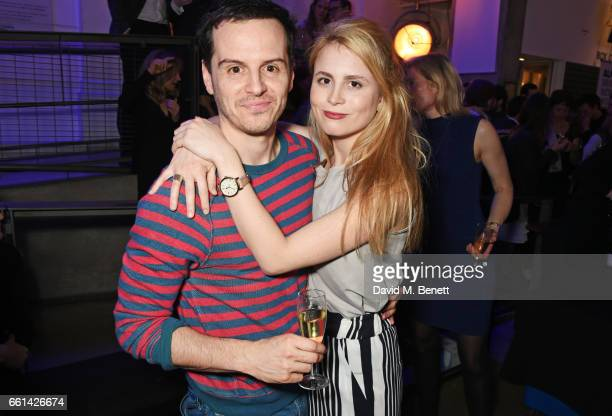 Andrew Scott and Yolanda Kettle attend 'Brave New Works The Almeida Fundraising Gala 2017' at The Almeida Theatre on March 30 2017 in London England