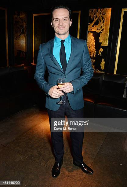 Andrew Scott attends the GQ London Collections Men AW15 closing dinner at Hakkasan Hanway Place on January 12 2015 in London England