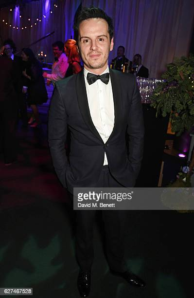 Andrew Scott attends The Ireland Fund Of Great Britain's 'The Winter Ball' in the Midnight Garden of Shakespeare's Globe on December 3 2016 in London...