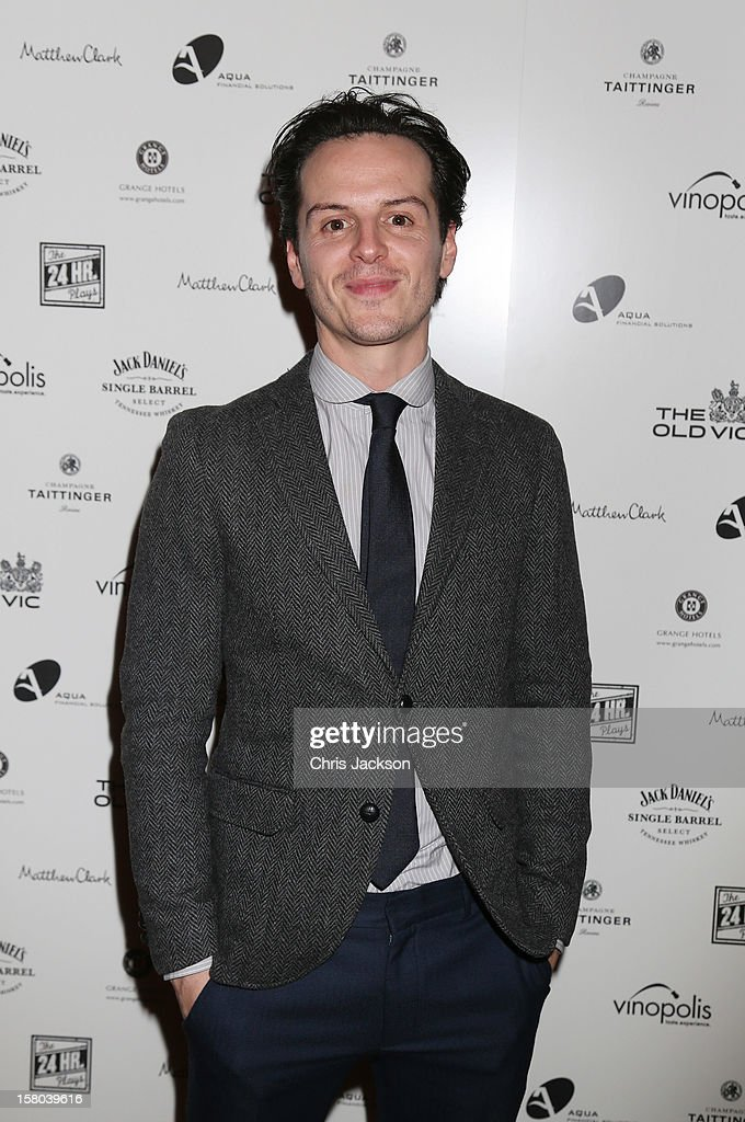 Andrew Scott attends the post-show party, The 25th Hour, following The Old Vic's 24 Hour Musicals Celebrity Gala 2012 during which guests drank Jack Daniels Single Barrel, Curtain Raiser cocktails in The Great Halls, Vinopolis, Borough on December 9, 2012 in London, England.
