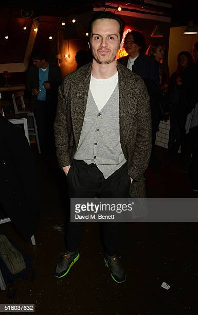 Andrew Scott attends the press night performance of 'Bug' at Found111 on March 29 2016 in London England