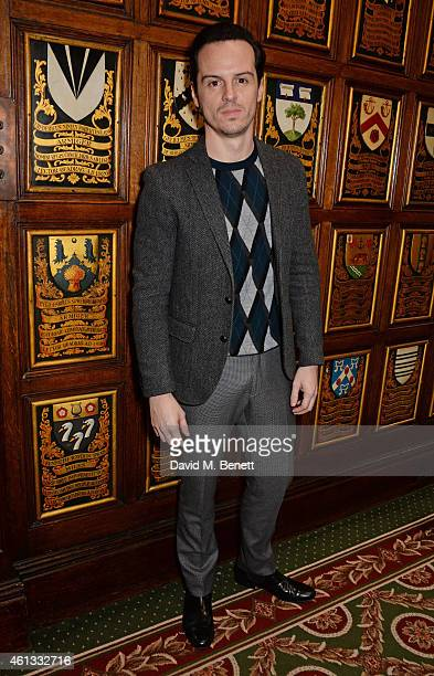 Andrew Scott attends the Pringe Of Scotland Autumn/Winter 2014 menswear runway show during London Collections Men at Middle Temple Hall on January 11...