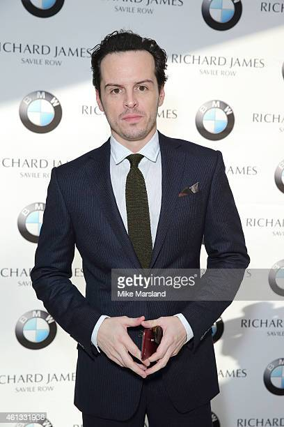 Andrew Scott attends the Richard James show at the London Collections Men AW15 at on January 11 2015 in London England
