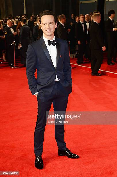 Andrew Scott attends the Royal World Premiere of 'Spectre' at Royal Albert Hall on October 26 2015 in London England