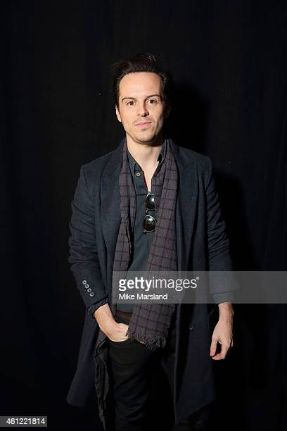 Andrew Scott attends the TOPMAN show at the London Collections Men AW15 at on January 9 2015 in London England