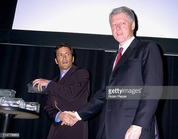Andrew Shue and President Bill Clinton during The 2005 Do Something BRICK Awards Show and Backstage at Capitale in New York City New York United...