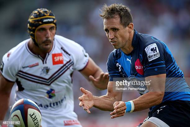 Andrew Smith of Montpellier during the French Rugby League Top 14 between Union Bordeaux Begles and Montpellier on September 6 2015 in Bordeaux France
