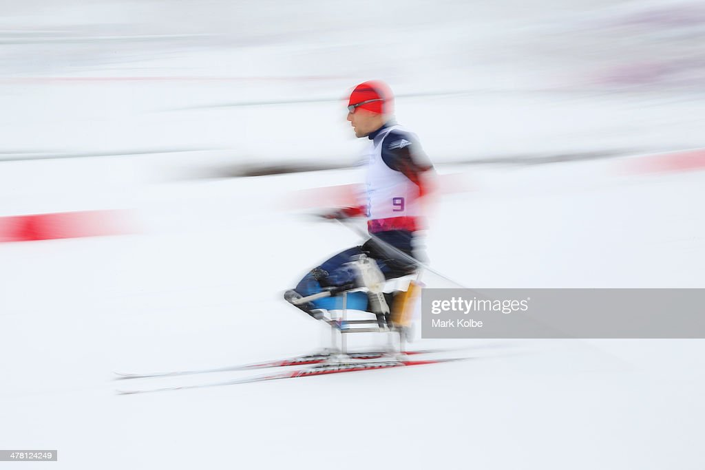 Andrew Soule of the United States competes in the men's 1km sprint, sitting cross-country during day five of Sochi 2014 Paralympic Winter Games at Laura Cross-country Ski & Biathlon Center on March 12, 2014 in Sochi, Russia.