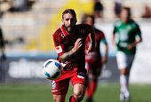Andrew Stadler of Ostersunds FK during the allsvenskan match between Ostersunds FK and Jonkopings Sodra IF at Jamtkraft Arena on July 10 2016 in...