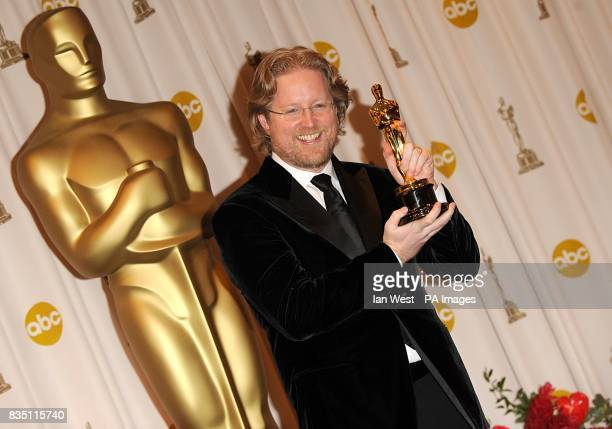 Andrew Stanton with the Best Animated Feature award received for WallE at the 81st Academy Awards at the Kodak Theatre Los Angeles